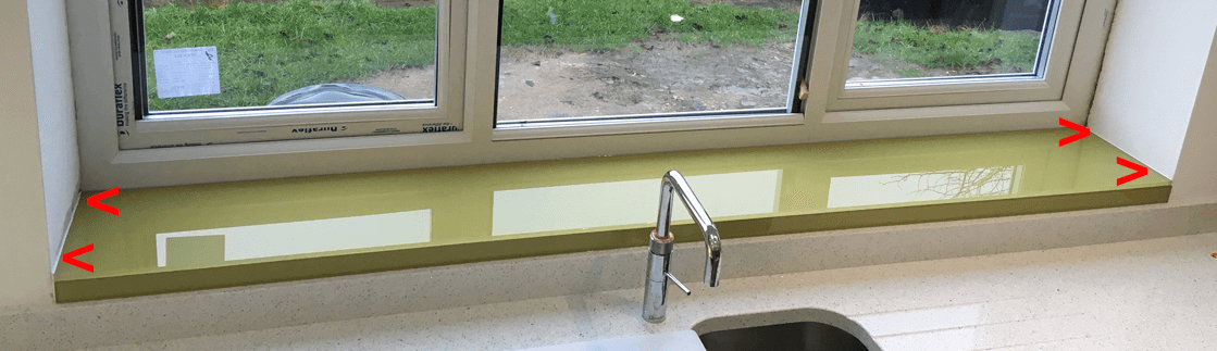How To Measure For Your Glass Window Sill Glass Splashbacks