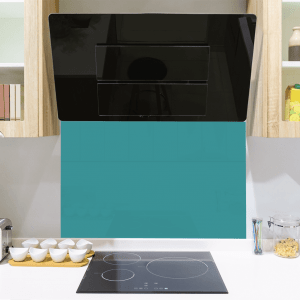 Ice Blue Toughened Glass Splashback