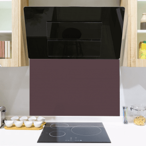 Indian Purple Toughened Glass Splashback
