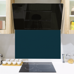 Inky Blue Toughened Glass Splashback