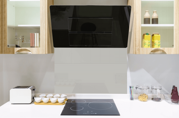 Light Grey Toughened Glass Splashback