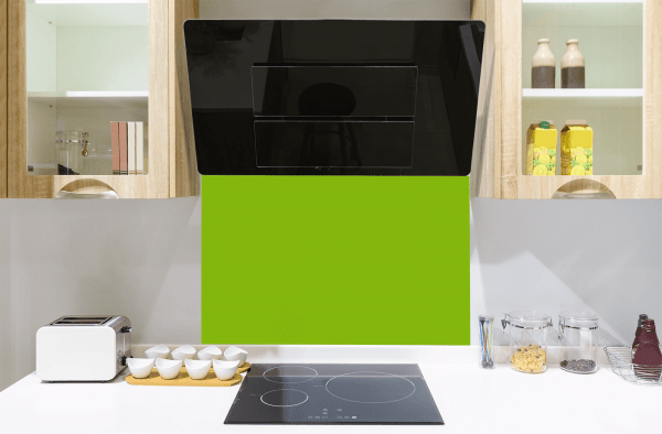 Lime No3 Toughened Glass Splashback