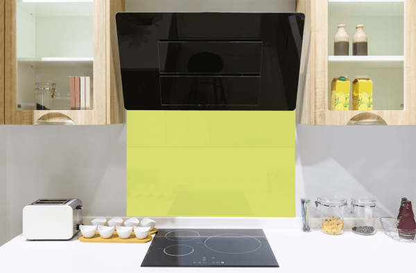 Lime Toughened Glass Splashback