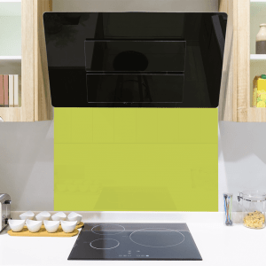 Luscious Lime Toughened Glass Splashback