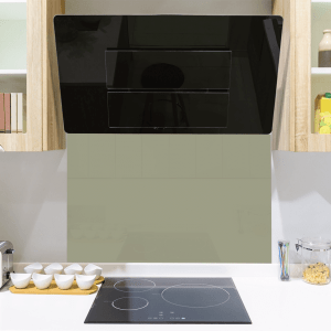 Mid Aged Green Toughened Glass Splashback