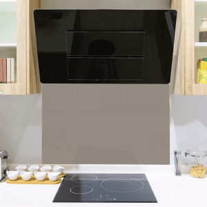 Mid Grey Toughened Glass Splashback