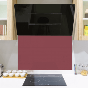 Modern Red Toughened Glass Splashback