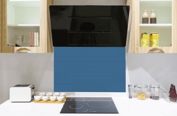 Morning Blue Toughened Glass Splashback