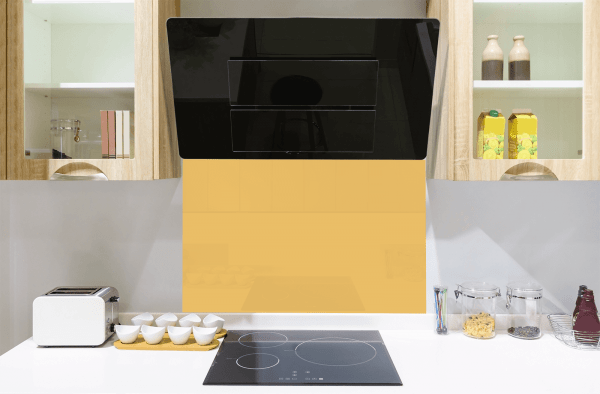 Moroccan Yellow Toughened Glass Splashback