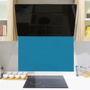 Ocean Teal Toughened Glass Splashback