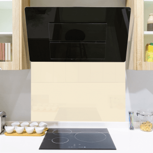 Pale Cream Toughened Glass Splashback
