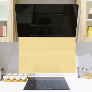 Pale Yellow Toughened Glass Splashback