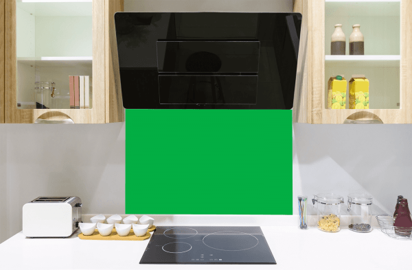 Parakeet Green Toughened Glass Splashback