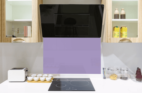 Perriwinkle Purple Toughened Glass Splashback