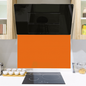 Phoenix Orange Toughened Glass Splashback