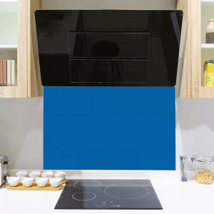 Picasso Blue Toughened Glass Splashback