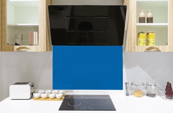 Picasso Blue Toughened Glass Splashback