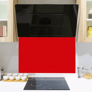 Red Red Toughened Glass Splashback