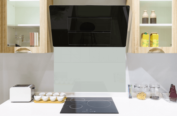 Sky Grey Toughened Glass Splashback