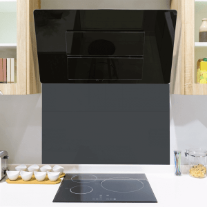 Soft Black No 31 Toughened Glass Splashback
