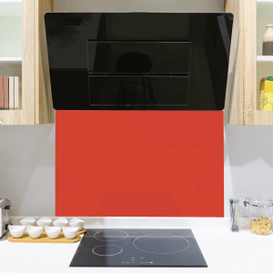 Sports Orange Toughened Glass Splashback