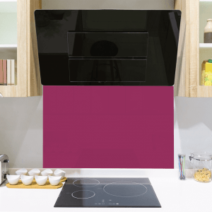 Sumptuous Plum Toughened Glass Splashback
