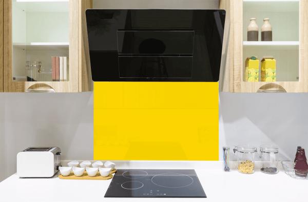Sunflower Yellow Toughened Glass Splashback