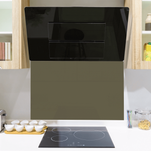 Toughened Dark Pearl Grey Glass Splashback