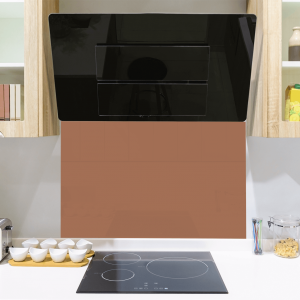Toughened Rose Gold Glass Splashback