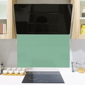 Turquoise Green Toughened Glass Splashback