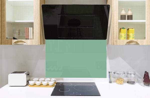 Turquoise Green Toughened Glass Splashback