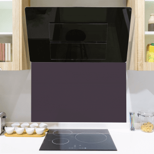 Virtuoso Purple Toughened Glass Splashback