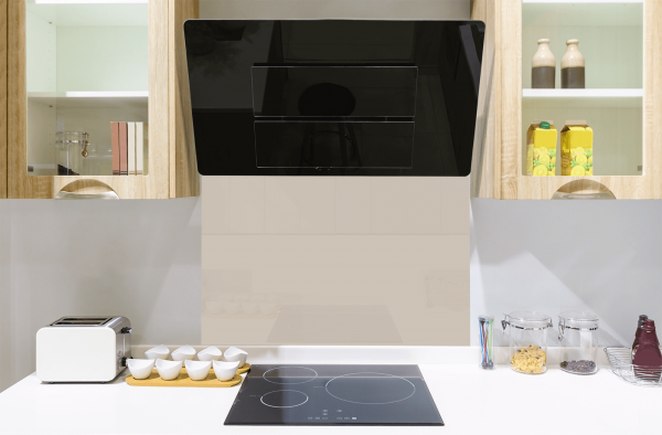 Warm Grey Toughened Glass Splashback