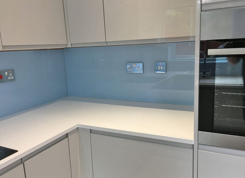 Cloud Glass Splashback Glass Splashbacks