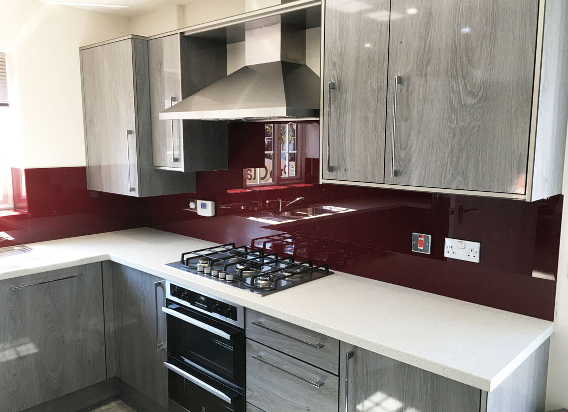 Pink and Red Glass Splashbacks South Manchester Glass Splashbacks