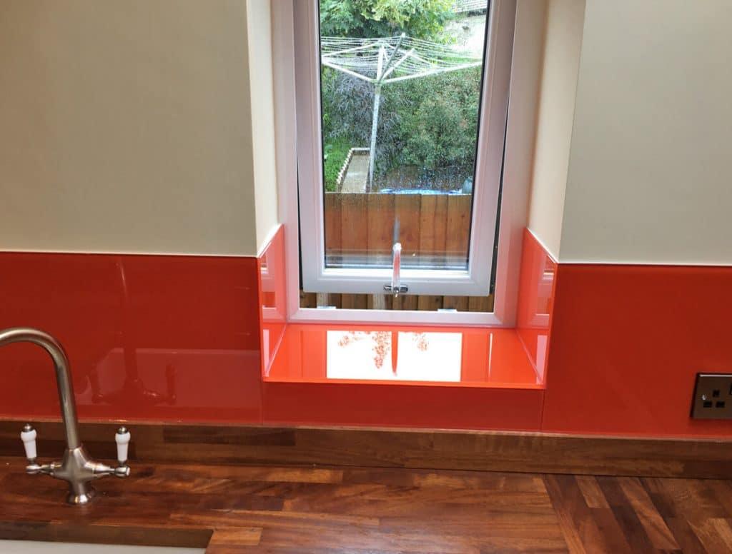 Flame Orange No.862 Toughened Glass Splashback Glass Splashbacks