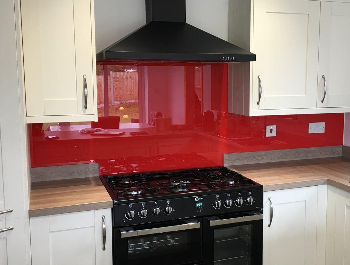 Pink and Red Glass Splashbacks South Manchester Glass Splashbacks