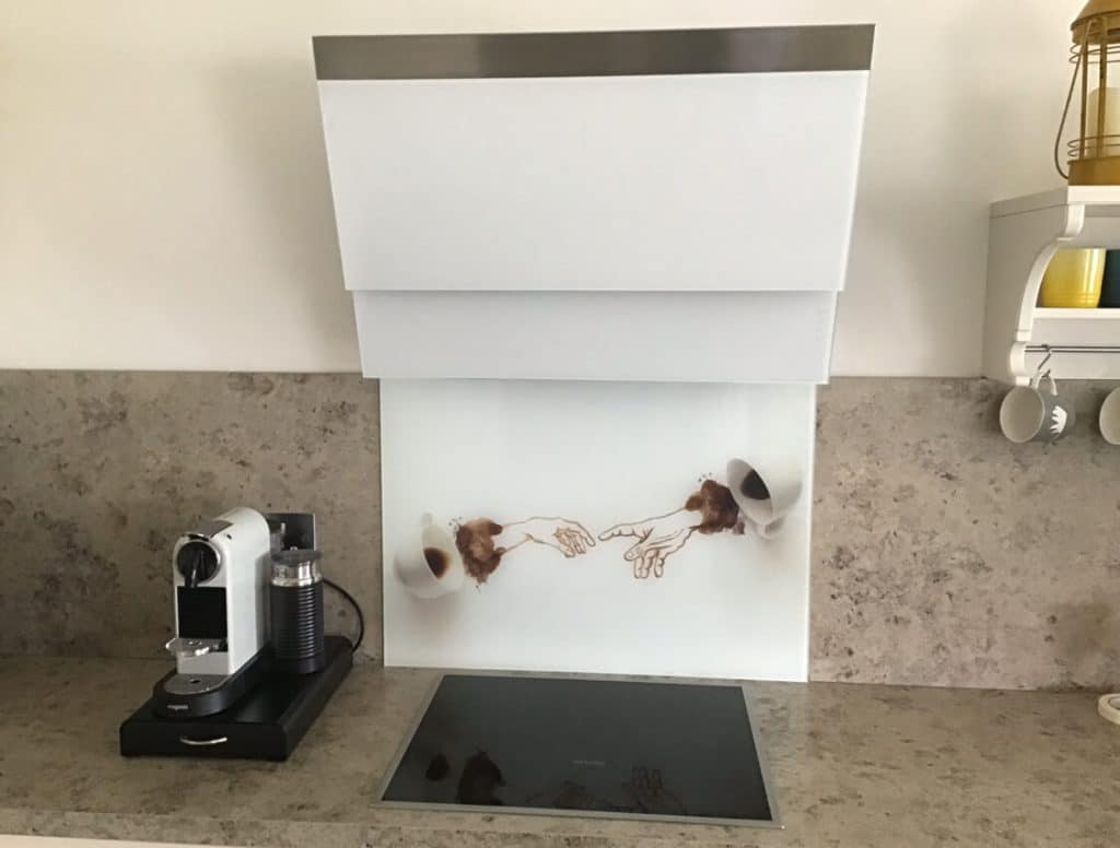 Espresso Printed Toughened Glass Splashback Glass Splashbacks