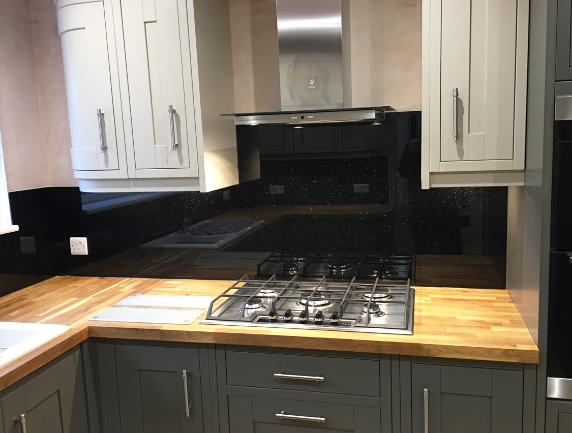 Preston Black and Grey Glass Splashbacks