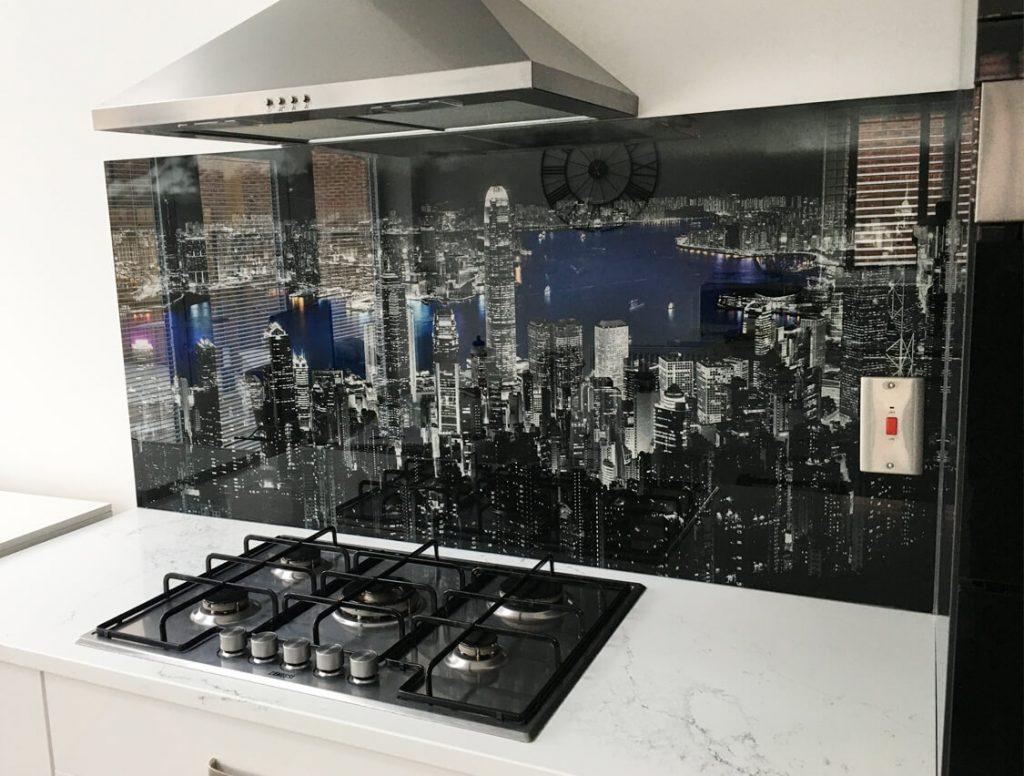 Hong Kong Skyline Glass Splashbacks