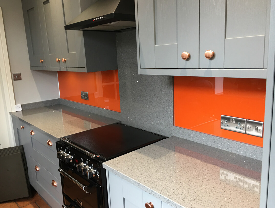Yellow and Orange Splashbacks South Manchester Glass Splashbacks