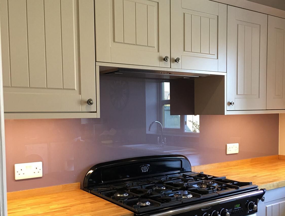 Preston Purple Glass Splashbacks